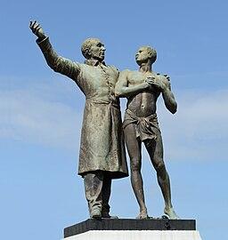 Cayenne Victor Schoelcher statue by Louis-Ernest Barrias