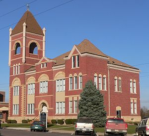 Cedar County, Nebraska courthouse from SW 1.JPG