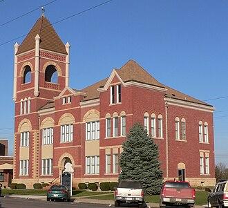 Cedar County, Nebraska - Image: Cedar County, Nebraska courthouse from SW 1