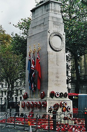 Remembrance Day - The Cenotaph at Whitehall, London on Remembrance Day 2004