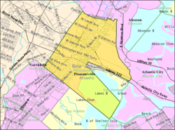 Census Bureau map of Pleasantville, New Jersey