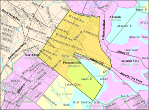 Pleasantville, New Jersey - Image: Census Bureau map of Pleasantville, New Jersey