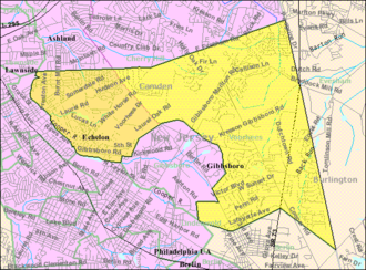 Voorhees Township, New Jersey - Image: Census Bureau map of Voorhees Township, New Jersey