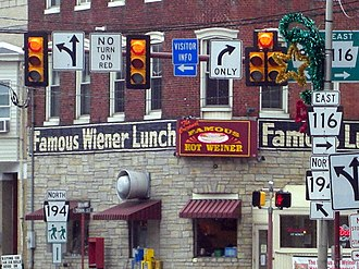 Hanover, Pennsylvania - The Famous Hot Wiener restaurant in downtown Hanover