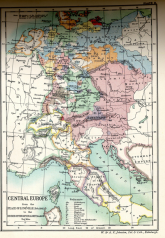 Treaty of Lunéville - Central Europe from the Peace of Lunéville to the Decree of the Imperial Diet