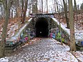 Central Mass east tunnel portal, January 2016.JPG