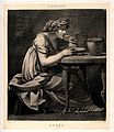 Ceres (Demeter). Reproduction of engraving by P.P. Prud'hon. Wellcome V0035854.jpg