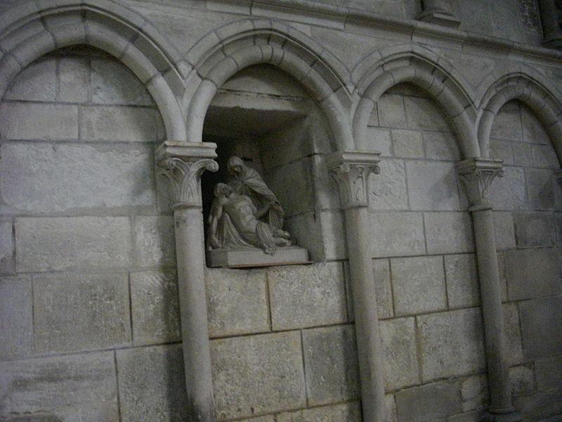 Interior of Notre-Dame-en-Vaux collegiate church in Châlons-en-Champagne (Marne, France): Pietà
