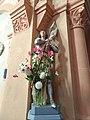 Chénelette - Statue Jeanne d'Arc église (sept 2018).jpg