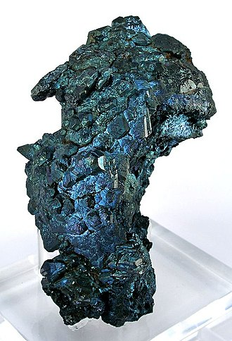 Ladysmith, Wisconsin - Steely-blue chalcocite from the Flambeau Mine