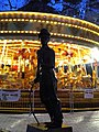 Charlie Chaplin and carousel at Leicester Square - geograph.org.uk - 1623688.jpg