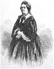 Charlotte Birch-Pfeiffer, 1864. Grafik von Adolf Neumann. (Quelle: Wikimedia)
