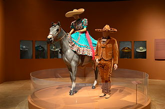 Charro - Female and male charro regalia, including sombreros de charro