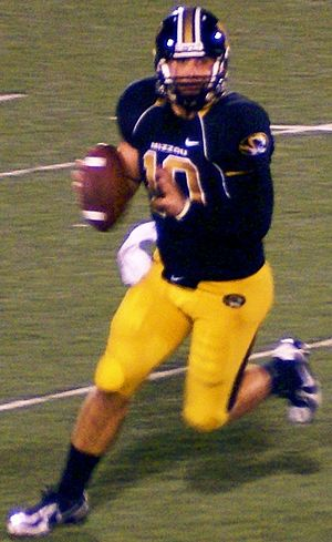 Missouri Tigers football statistical leaders - Chase Daniel is Missouri's career leader in passing yards.