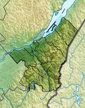 Voir la carte administrative de la zone Chaudière-Appalaches
