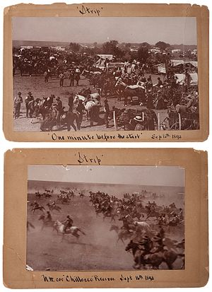 Land Run of 1893 - Image: Cherokee Strip Land Rush, 1893