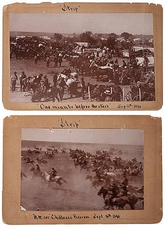 Land Run of 1893 - Image: Cherokee Strip Land Rush, 1893