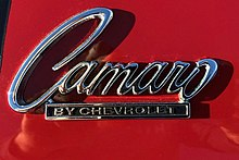 Logo am Chevrolet Camaro ab 1968