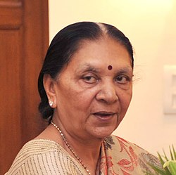 Chief Minister of Gujarat Anandiben Patel.jpg