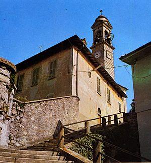 Molteno - Stairway near the summit of Ceppo hill.