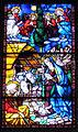 Chiesa delle carceri, int., vetrata su disegno del ghirlandaio, natività.JPG