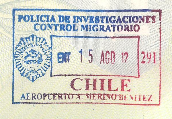 visa phone chile: