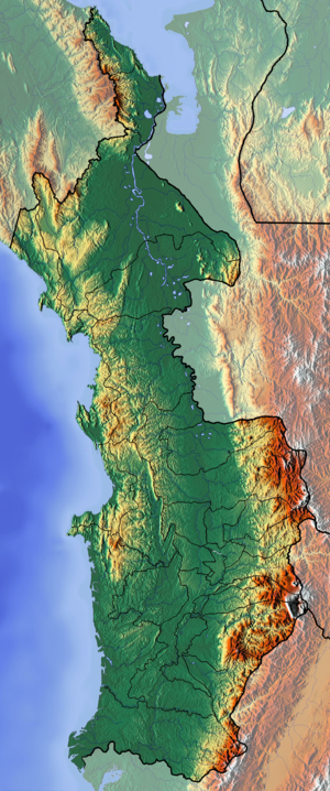 Chocó Department - Image: Choco Topographic 2