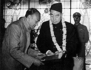 Pushpa Ratna Sagar - Sagar (left) with Chinese Premier Zhou Enlai in Kathmandu in 1957.