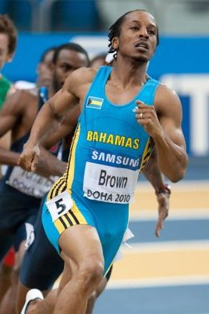Chris Brown (sprinter) - Brown at the 2010 World Indoor Championships