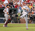 Chris Carpenter and Yadier Molina on June 29, 2011.jpg