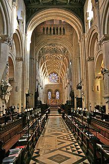 Interno della cattedrale di Oxford