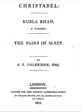 Christabel, Kubla Khan, and Pains of Sleep titlepage.jpg