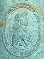 Christian V afbildet på kanon, Tøjhusmuseets gård.jpg