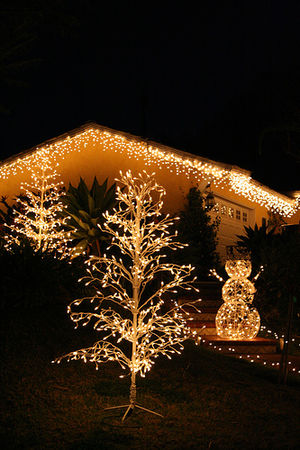 English: Christmas lights Nederlands: Kerstver...