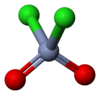 Ball and stick model of chromyl chloride