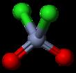 Ball and stick model of chromyl chloride