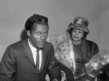 Berry and his sister Lucy Ann (1965) Chuck Berry en Lucy Ann (1965).jpg