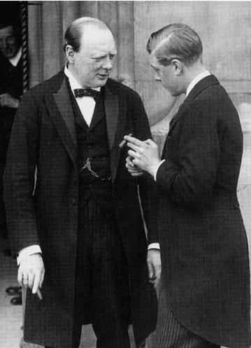 Churchill and Prince of Wales (future Edward VIII)