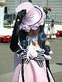 Ciel Phantomhive in pink dress cosplayer at 2010 NCCBF 2010-04-18 2.JPG