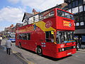 City sightseeing bus on Frodsham Street, Chester.JPG