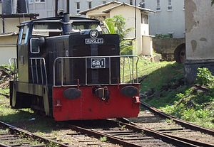 Galle railway station - A Class Y shunting locomotive at Galle
