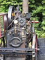 Clayton & Shuttleworth 3NHP portable engine 44141 'Olive' (1911) on big wheel, Hollycombe, Liphook 3.8.2004 P8030102 (10353816813).jpg