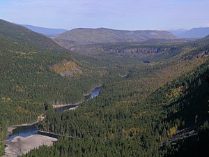 Wells Gray Provincial Park - The Clearwater River valley