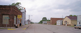 Climax, Minnesota - Broadway (Highway 220) in Climax in 2007.  City Hall is at left.