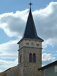 The church tower in Montchal