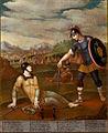 Clorinda prosi Tancredija, da jo krsti (kon. 17. ali zač. 18. st.).jpg