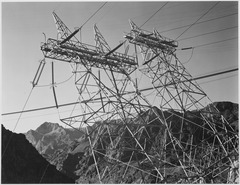 Close-Up Photograph of Boulder Dam Transmission Lines, 1941 - NARA - 519847.tif