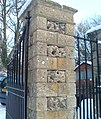 Coade stone inserts to the gate posts at Newark Park - geograph.org.uk - 1658410.jpg
