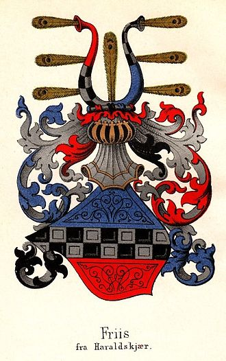 Governor-general of Norway - Image: Coatofarms Friis af Haraldskjaer