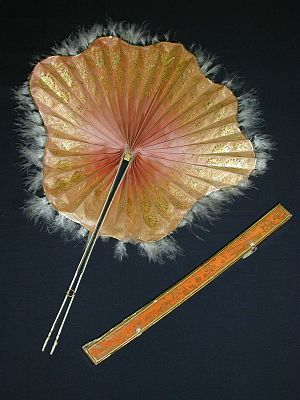 European hand fans in the 18th century - A Parisian Cockade fan of silk and ivory, 1800-1850